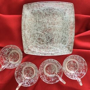 1960's Vintage snack saucers & plates
